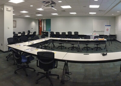 Preparing to teach onsite (people kept out of photo for privacy)